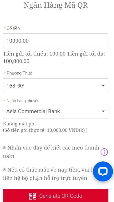 ngân hàng quét mã qr code