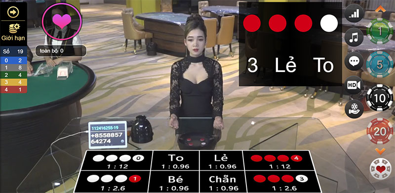 Sảnh xóc đĩa WM Casino tại nhà cái AE888